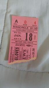 VINTAGE-1961-BOXING-TICKET-STUB-Jan-18-1961-GOLDEN-GLOVES-MADISON-SQUARE-GARDEN