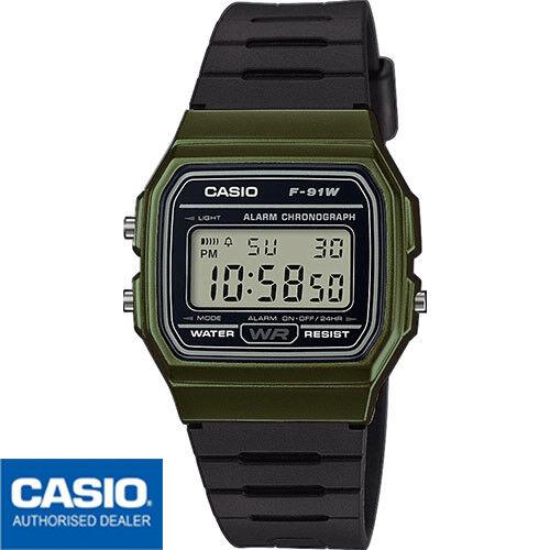 Casio reloj de pulsera para hombre digital cuarzo F 91wm 3aef