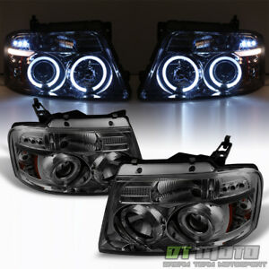 Image Is Loading Smoke 2004 2006 Ford F150 Led Halo Projector