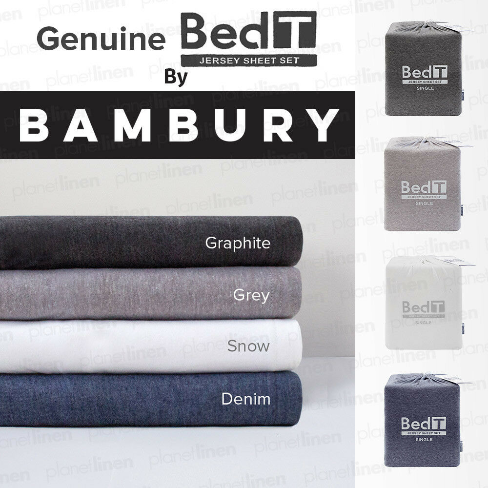 BAMBURY BedT t-Shirt Cotton Blend Jersey Sheet Sets Single  Double  Queen  King