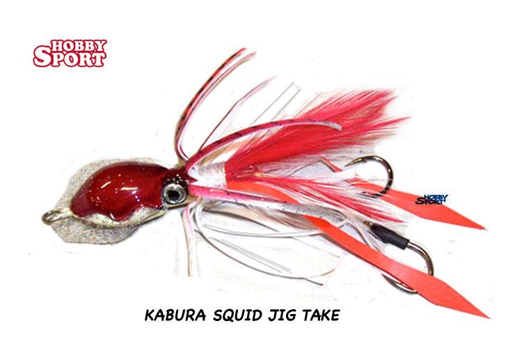 KABURA    SQUID JIG TK GR 80 colore  ROSSO  barato en alta calidad