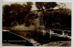 Gh060-341-Real-Photo-of-BOLTON-ABBEY-Step-Stones-Skipton-c1920-Unused-G-VG