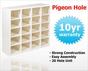 Image Is Loading Pigeon Hole Unit Storage Shelving Cabinet 20 Pigeon