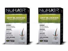 2X NuHair DHT Blocker Hair Regrowth Formula Men Women Nu Hair 2x60 Tabs 2-Pack