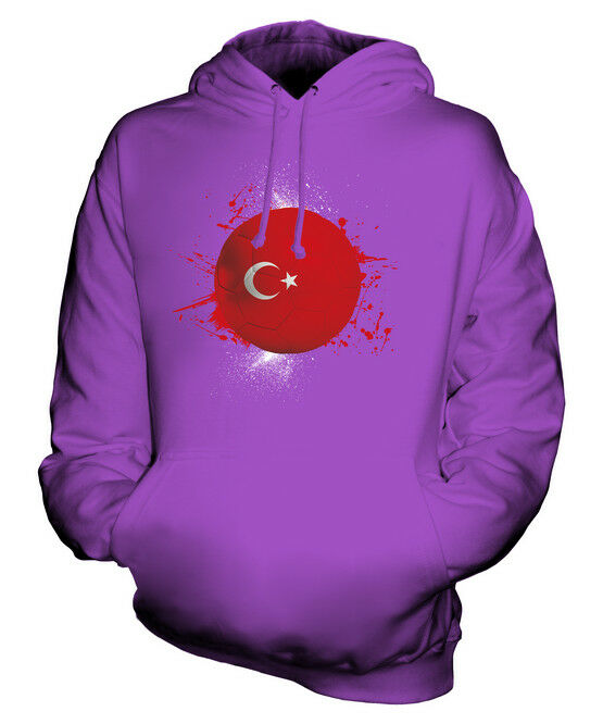 TURKEY FOOTBALL UNISEX HOODIE TOP GIFT WORLD CUP SPORT