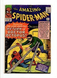 Amazing Spider-Man #11 VINTAGE Marvel Comic KEY 2nd Doctor Octopus Silver 12c