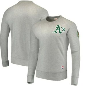 cbe36f50 Details about LEVI'S OAKLAND A'S Mens gray crew neck sweater sweat shirt  (XXL) NEW