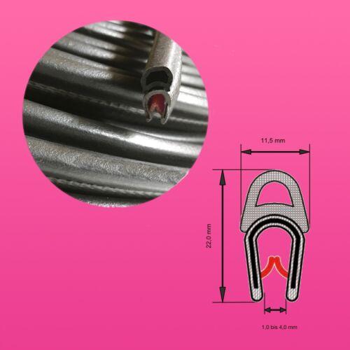 KB 1-4mm con in gomma crepla tubo! Guarnizione Profilo Profilo di tenuta A4 protezione bordi