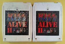 KISS Alive II Vol 1 & 2 8 Track Tapes 1977 Casablanca NBL 87076