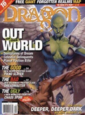 Dragon Magazine 287 C/w Parte Uno Dei Regni Dimenticati Carta Oggetto Molto Rara-mostra Il Titolo Originale