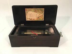 Antique-Mermod-Freres-Swiss-Cylinder-Table-Top-Music-Box-8-Tunes-Jacot-amp-Sons