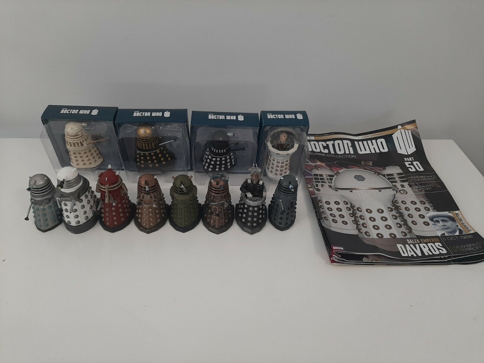 2012 Eaglemoss Dr Who Figurine Collection Lot of 12 Dalek's