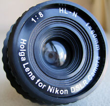 AU - Holga HL-N 60mm f/8 Toy Lens for Nikon Digital DSLR D7000 D800 Camera lomo