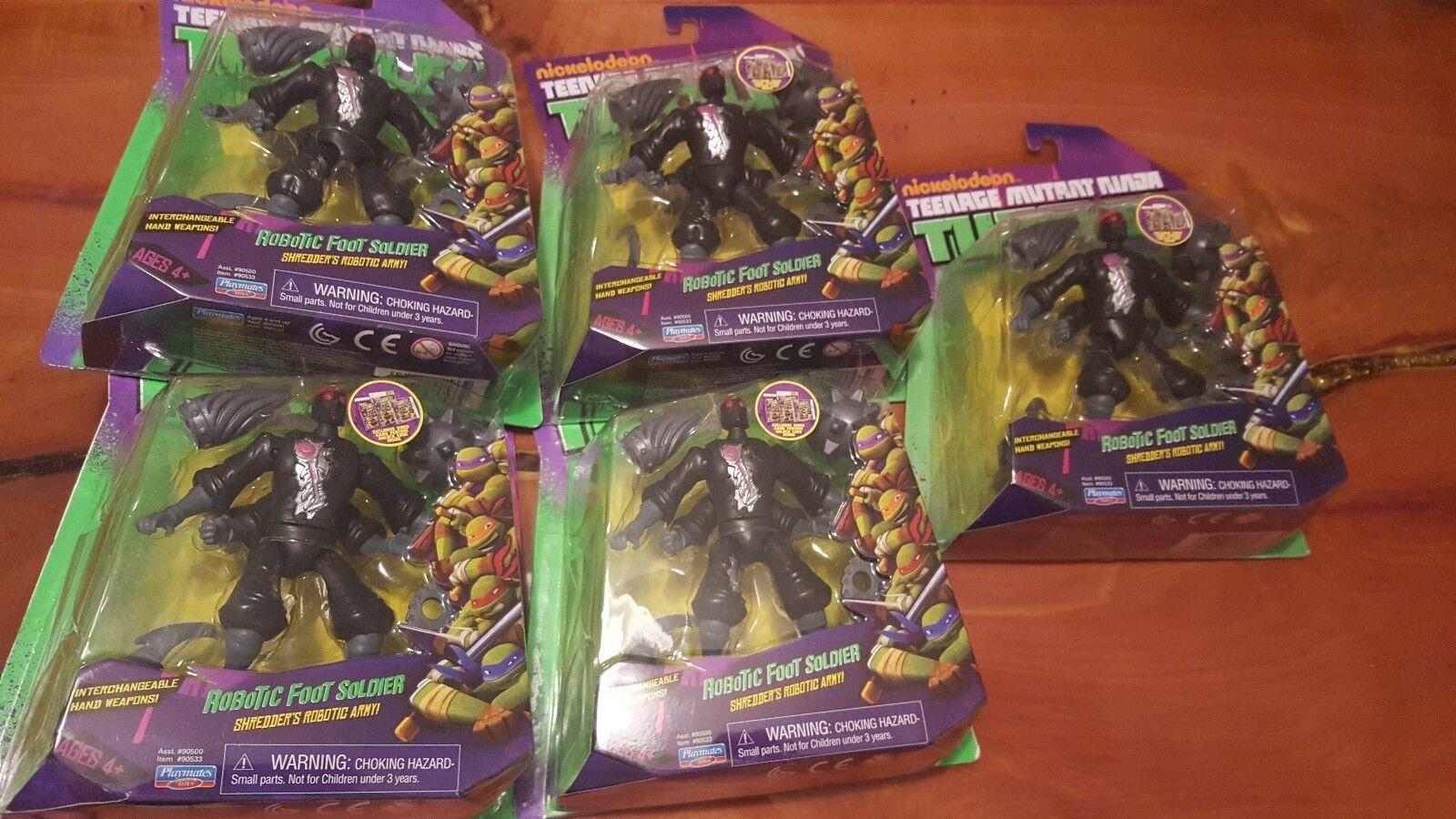 mejor servicio Teenage Mutant Ninja Turtles Turtles Turtles Nickelodeon robótica Soldado del Pie Lote Juego De 5 Micky  mejor calidad mejor precio