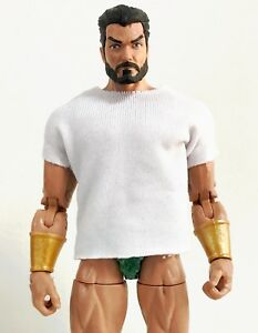 NOX-TL-WHT-White-T-Shirt-for-6-034-ML-Mezco-one-12-or-7-034-WWE-Figure-No-tracking
