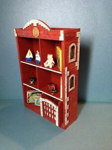 Image Is Loading Dollhouse Miniature Firehouse Bookcase Kit 1 12 Scale