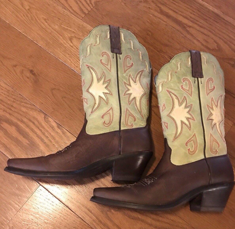 Ariat Cowboy Stiefel Manzanita Cocoa Limetta Größe 9.5 B