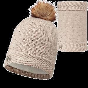 Buff-Ladies-Aura-Chic-Diamonte-Fleece-Beanie-Hat-and-Neckwarmer