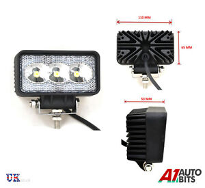 9W-RECTANGLE-3-LED-12V-24V-WORK-FOG-SPOT-LIGHT-LAMP-OFF-ROAD-JEEP-TRUCK-BOAT-ATV