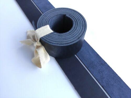 "Leather Strip Strap Band Leather Belt Blank Strips 8-9 oz 51-55/"" Dark Blue"