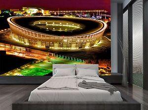 Image Is Loading Night Lights Soccer Football Stadium Wall Mural Photo
