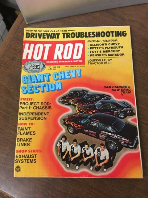 June 1972  Hot Rod Magazine Giant Chevy Section