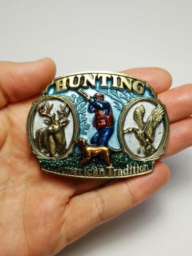 "1986 "" Hunting An American Tradition "" USA Belt Bu"