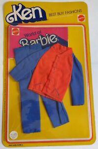 Barbie-Ken-Best-Buy-Fashions-Vestito-Rosso-Blu-2240-Vintage-1978