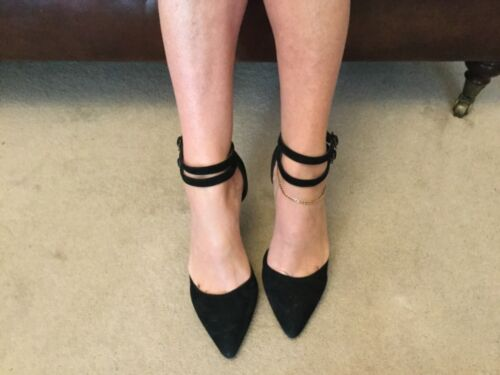 Very 5 Black Connection Stiletto Size Suede Womens Worn French Well Shoes rwfnavqr