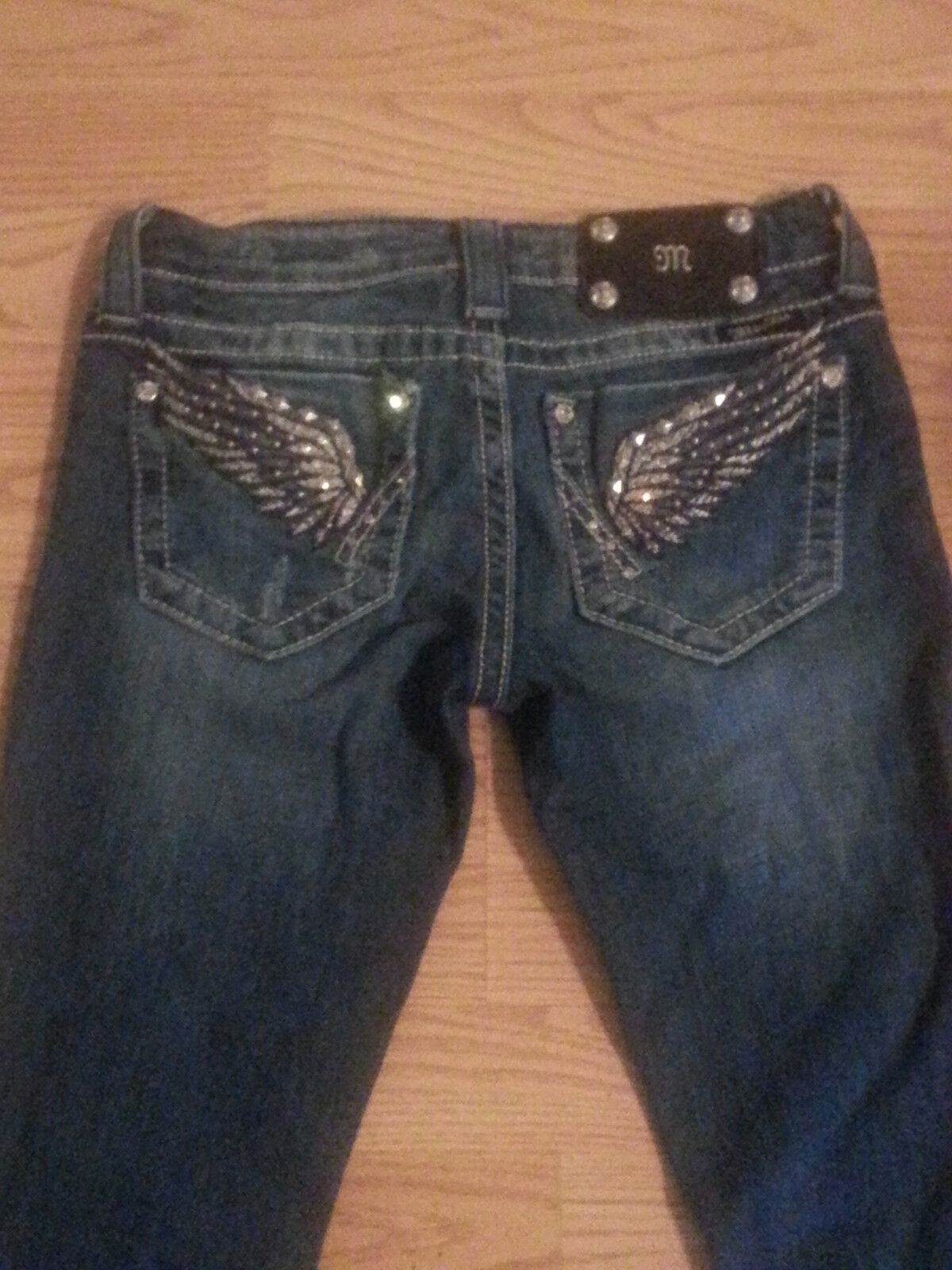 Women's Miss Me Jeans Wingspan Straight Jeans Size 25 Medium Wash EUC