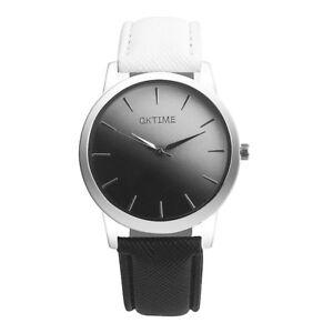 Fashion-Retro-Deporte-Reloj-para-hombre-Negro-Cuero-Casual-Wrist-Watch