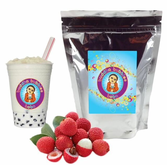 Lychee Boba/ Bubble Tea Powder by Buddha Bubbles Boba (1 Kilo | 2.2 Pounds)