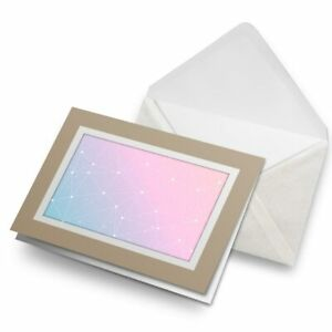 Greetings-Card-Biege-Pink-Blue-Triangle-Pattern-Abstract-16719