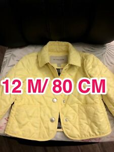 7cea6c3fe25 Image is loading Burberry-Infant-Baby-Girls-Yellow-Diamond-Quilted-Jacket-