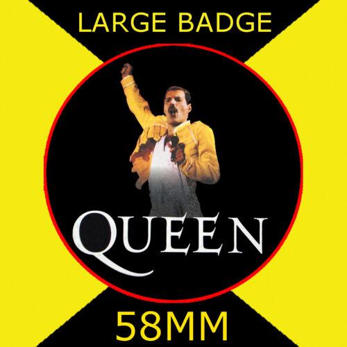 FREDDIE MERCURY YELLOW QUEEN FRIDGE MAGNET OR BADGE OR HANDBAG MIRROR #CD1245