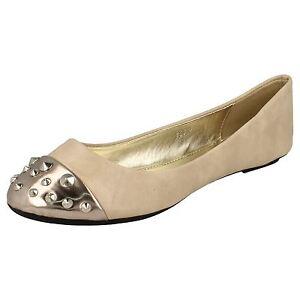 embout F8826 Spot On Chaussures avec pour clouté étain et 30a en femmes nues 4xfawqF0x