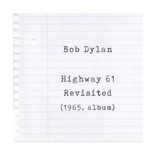 Bob Dylan Poster Highway 61 Revisited Album Lyrics Print Framed Original Art