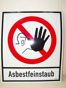 Old-GDR-Interdiction-Shield-034-Asbestfeinstaub-034-Plastic