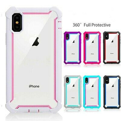 Details about  For iPhone X/XS XR XS Max 12 11 Pro Max 6 7 8 Plus Shockproof Clear Cover Case