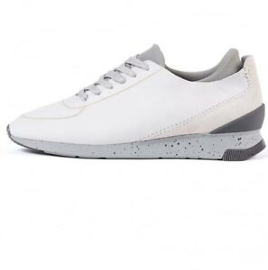 H-by-Hudson-White-Leather-Sneakers-Trainers-Sime-Noir-Lace-Up-Shoes-11-45-8-42