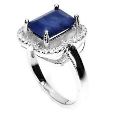 Bague Saphir bleu . Argent 925