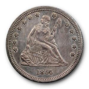 1865-25C-Seated-Liberty-Quarter-Extra-Fine-XF-X-F-Philadelphia-Mint-Better-Date