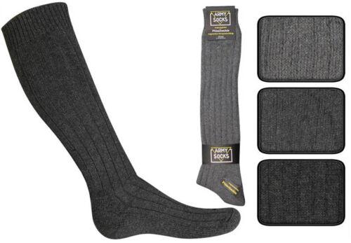 6 Paar Herren Armee Army Kniestrümpfe Socken mit Wolle -portofrei