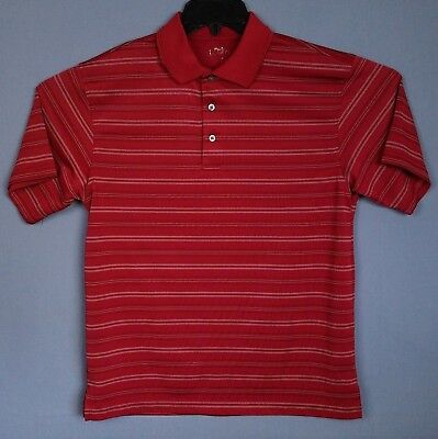Shirts Pga Tour Polo Shirt Mens M Red Striped Short Sleeve Stretch Polyester Pullover Ample Supply And Prompt Delivery