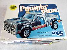"Vintage MPC 1979 Dodge pick up truck ""pumpin' iron"" plastic model kit 1-0432"