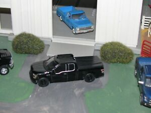 2015 FORD F-150 PICKUP TRUCK, W/ BED COVER, 1/64 DIECAST GREENLIGHT (BLACK)