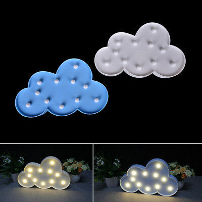 3D Cloud Night Lamp with 11LED White Cloud Letter light For Christmas l1i