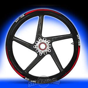 Kit ruote modello racing Adesivi Cerchi YAMAHA MT-03