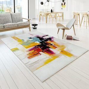 Das Bild Wird Geladen Teppich Bunt Modern Designer Teppiche  Vegas Leinwand Optik