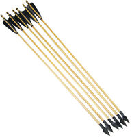 6pcs Mitsubishi Arrowhead Hunting Wood Shaft Arrows Outdoor Shooting Archery